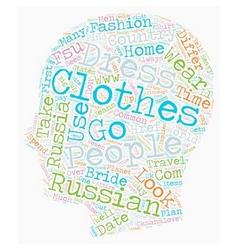 Russian dress code text background wordcloud vector image