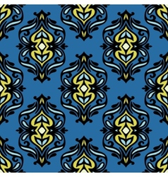 seamless damask design vector image