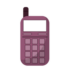 smartphone telephone technology icon vector image