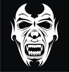 White vampire face vector