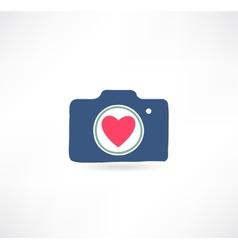 Camera icon i love photography vector
