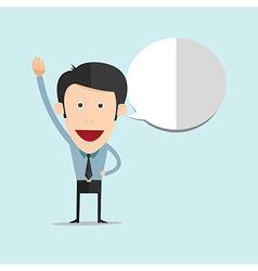 cartoon raise his hand vector image vector image