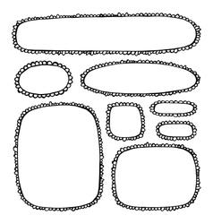 Doodle Border Frames Set vector image