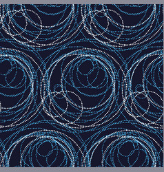 luxury abstract circle and ring seamless pattern vector image