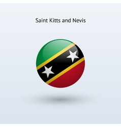 Saint Kitts and Nevis round flag vector image