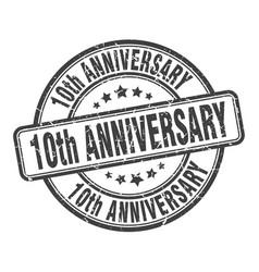 10th anniversary stamp 10th anniversary round vector