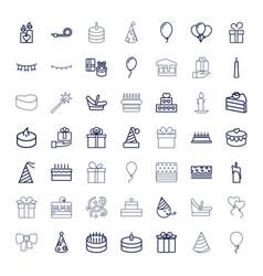 49 birthday icons vector