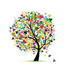 abstract colorful tree for your design vector image