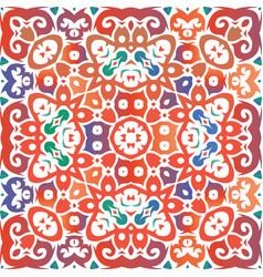 Antique mexican talavera ceramic vector
