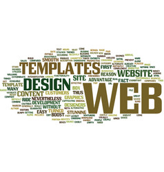 Are web templates aimed to exterminate the web vector