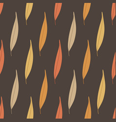 Autumn seamless pattern with colorful willow vector