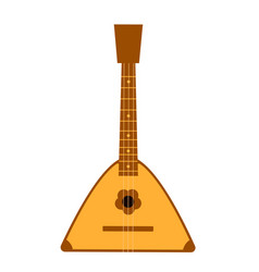 balalaika russian folk musical instrument vector image