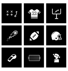 black football icon set vector image