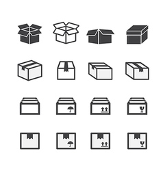 Box icon set vector