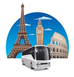 bus tour vector image