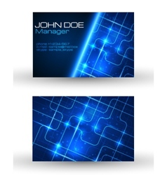 Business cards set with technology design vector image