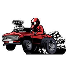 Cartoon american mucle car vector