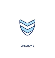 Chevrons concept 2 colored icon simple line vector