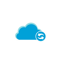 cloud computing icon refresh icon vector image