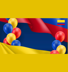 Colombian patriotic banner with space for text vector