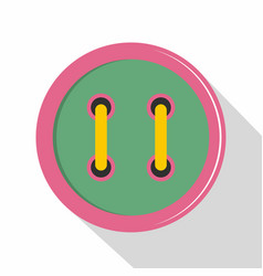 colorful clothing button icon flat style vector image