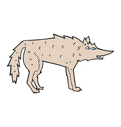 comic cartoon wolf vector image