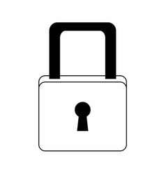 cyber security padlock access technology concept vector image