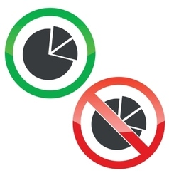 Diagram permission signs set vector image