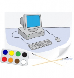 drawing computer vector image