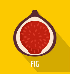 fig icon flat style vector image
