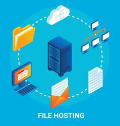 file hosting service flowchart vector image