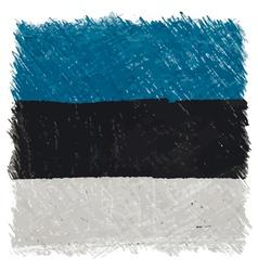 Flag of estonia handmade square shape vector