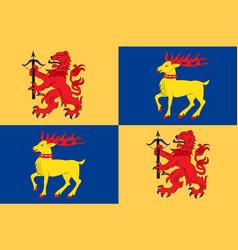 Flag of kalmar county is a county in southern vector