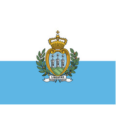 flag san marino in official rate and colors vector image