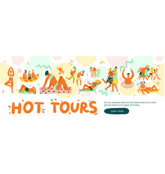 flat vacation banner vector image