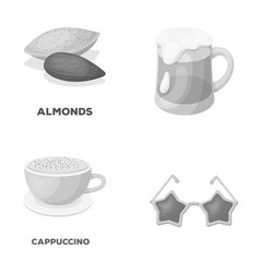 Food pub and other monochrome icon in cartoon vector