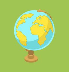 globe shpere isometric vector image