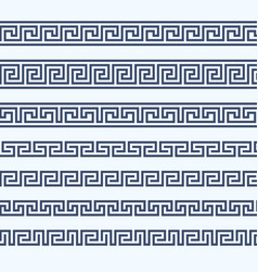 greek pattern border - grecian ornament vector image