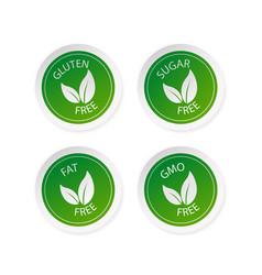 Green sugar free fat free gluten free and gmo vector