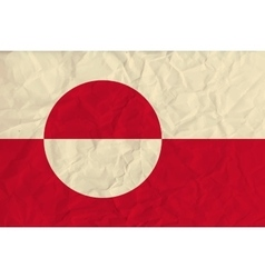Greenland paper flag vector image
