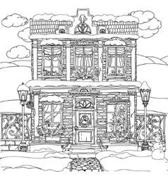Hand drawn stock of house vector