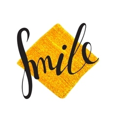 Handwritten inscription Smile vector