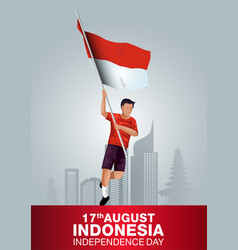 Happy independence day indonesia indonesian vector