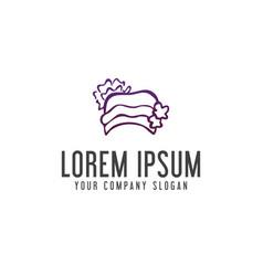 hat woman logo design concept template vector image