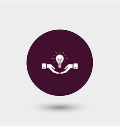 idea icon simple vector image