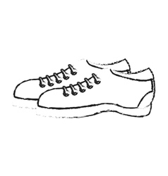 Isolated running shoes of training design vector