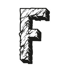 Letter f desert design concept vector