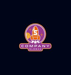 Letter s rocket logo design vector