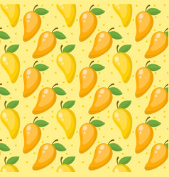 mango seamless pattern endless background vector image