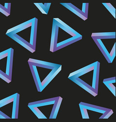 Memphis style pattern triangle repeating geometric vector